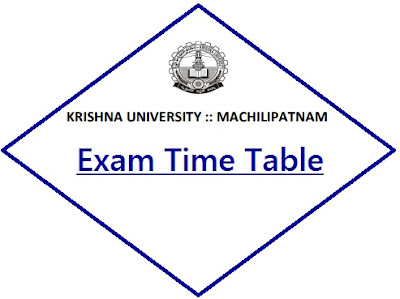 Krishna University UG Time Table 2020
