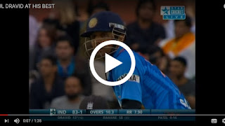 Rahul Dravid 3 sixes 3 balls in T20