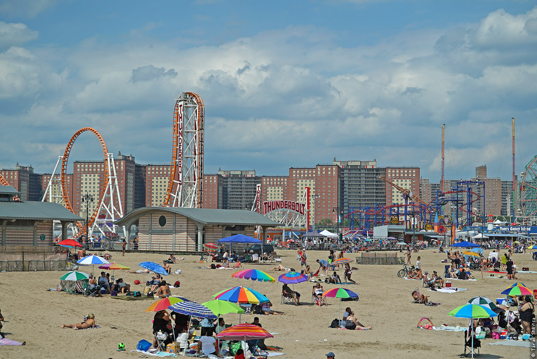 Coney Island Beach. New York
