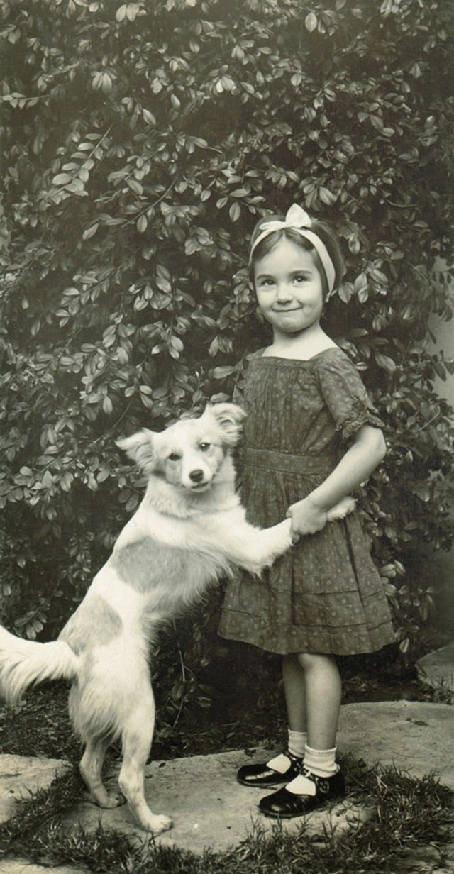 A Girls Best Friend 50 Adorable Vintage Portrait Photos of Girls With Their Dogs  vintage