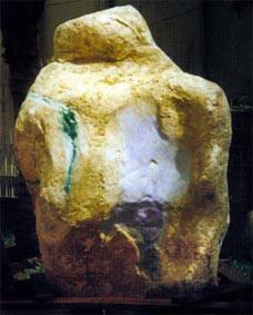Natural green jade boulder