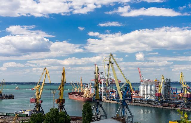 краєвид на Одеський порт