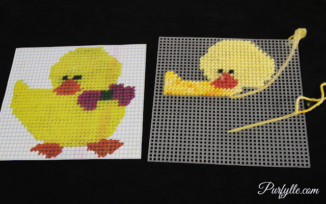 Duckling Cross Stitch #FinishItFriday