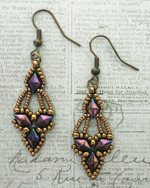 Free Beading Pattern Arabella Earrings