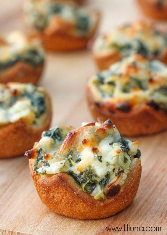 SPINACH DIP BITES #spinach #dip #bites #spinachrecipes #deliciousrecipes #deliciousfood