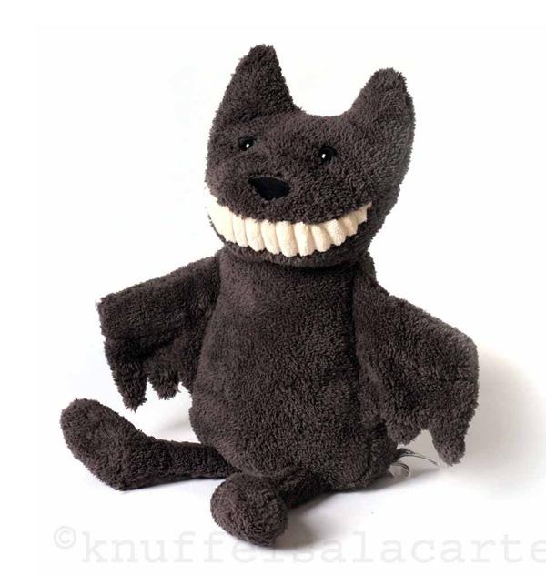 vleermuis toothy bat knuffel