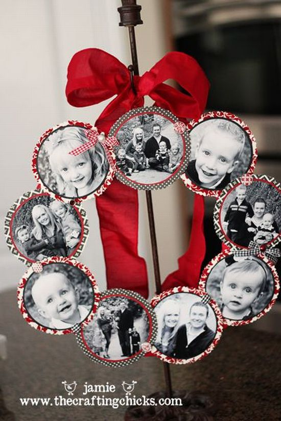 diy christmas gift idea picture wreath