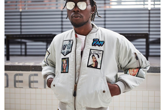 Theophilus London andy warhol interview magazine fashion street wear bomber jacket