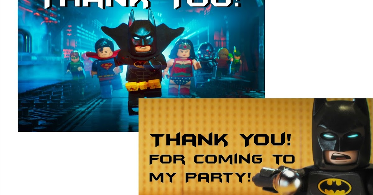 Musings of an Average Mom Lego Batman Thank You Cards