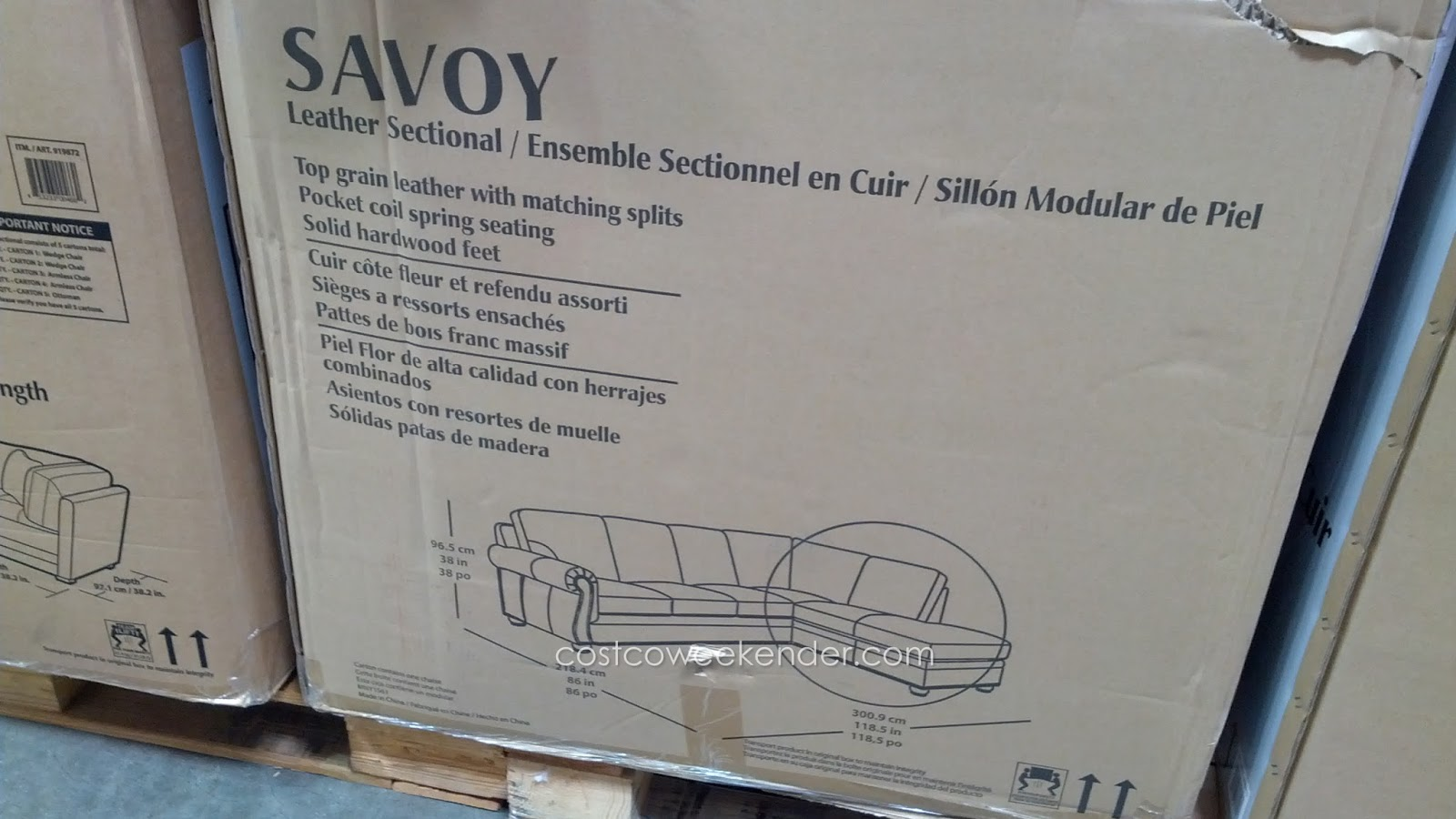 Savoy Leather Sofa Costco Review Velvet Sofas For Sale Marks And Cohen 2 Piece Sectional Couch