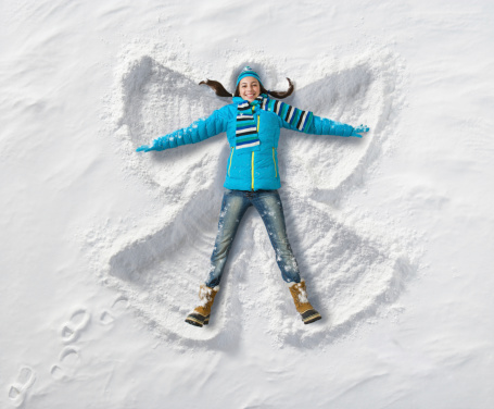 Making a snow angel