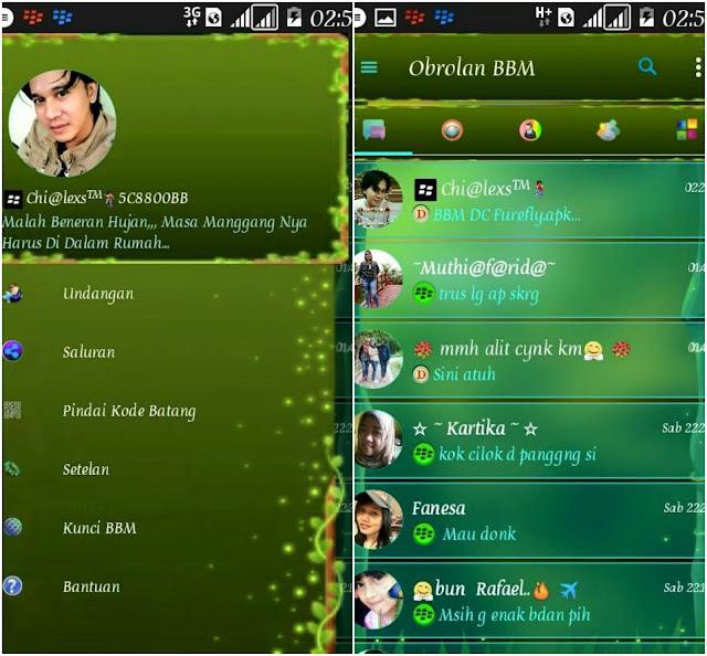 BBM Mod Theme Firefly v3.2.0.6 APK for android
