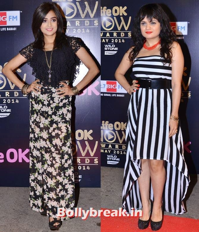 Monali Thakur and Aditi Sharma, Akshay, Jacqueline, Prabhu Dheva attend Life OK Awards