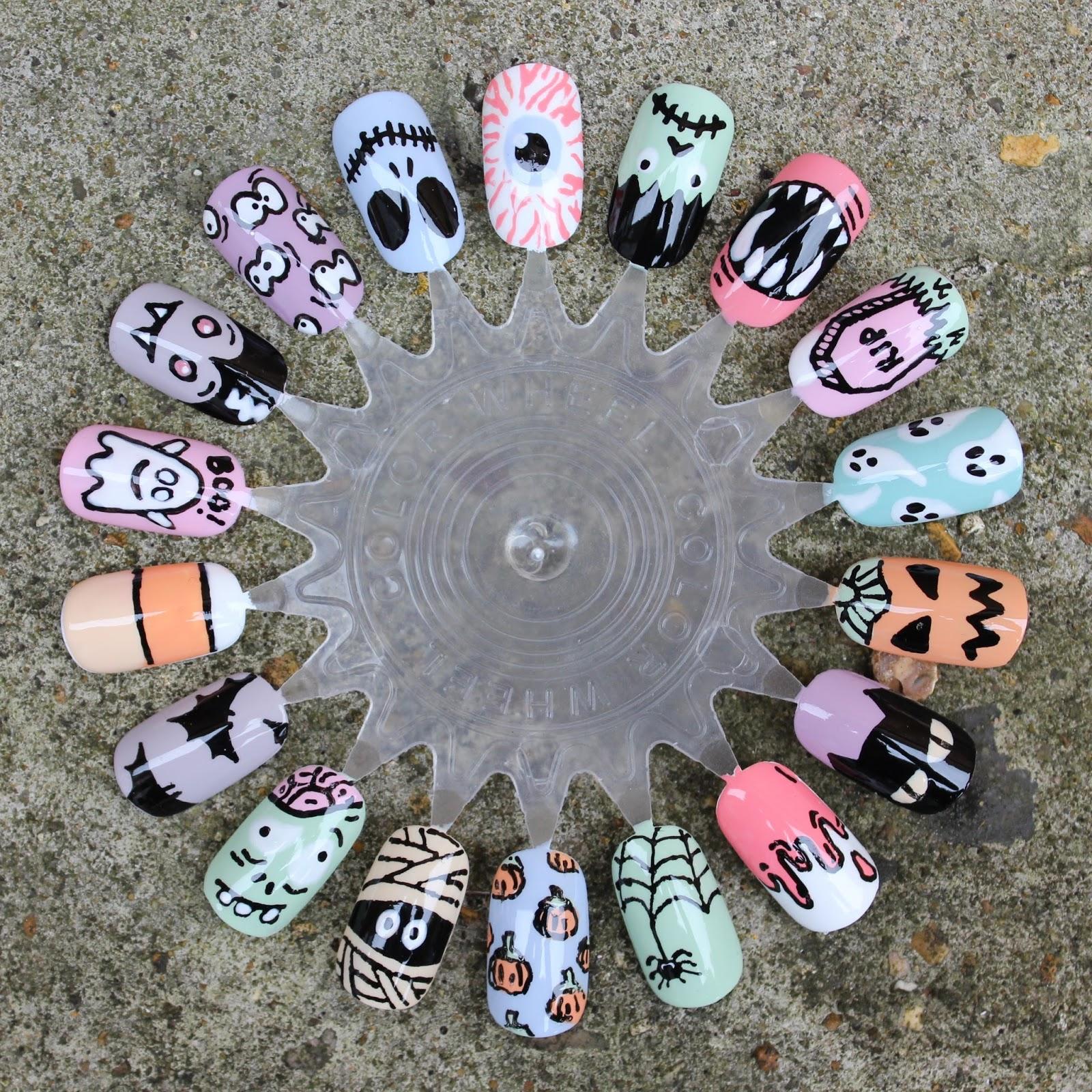 Dahlia Nails: 18 Fun Halloween Nail Art Ideas