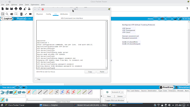 Konfigurasi VTP Server pada Cisco
