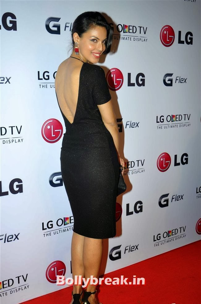Deepti Gujral, Celebs at LG G Flex Smartphone Launch