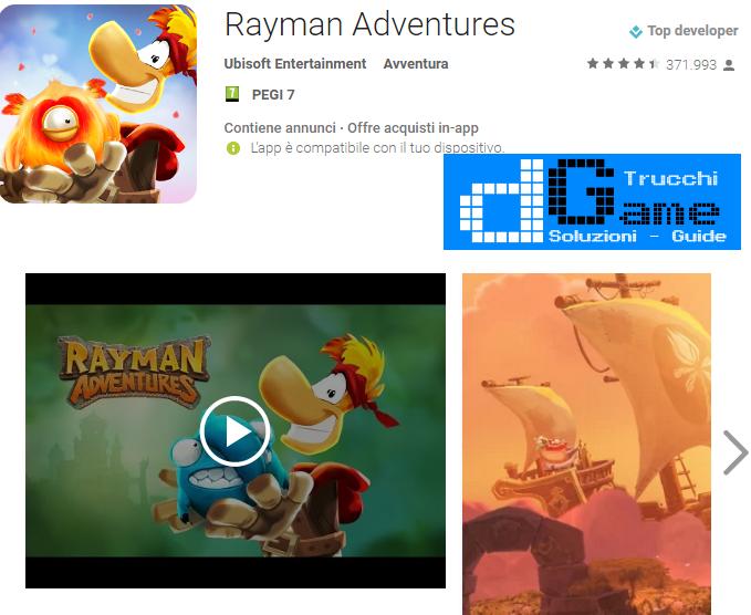 Trucchi Rayman Adventures Mod Apk Android v1.4.1