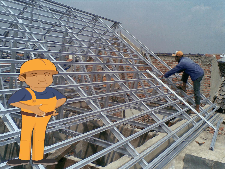cara menghitung pemakaian baja ringan untuk atap rumah pengertian, harga & memasang ...