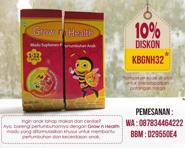 Cara Beli Madu Grow n Health