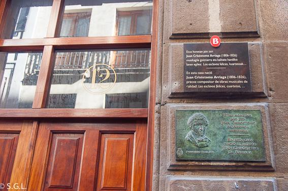 Casa donde nació Arriaga. Bilbao