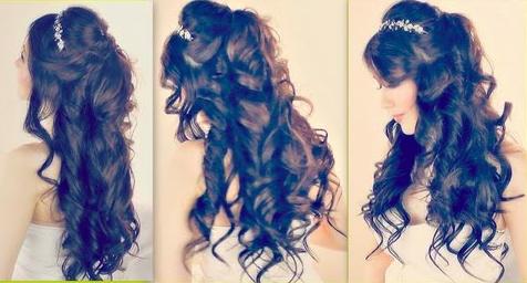 half up prom hair