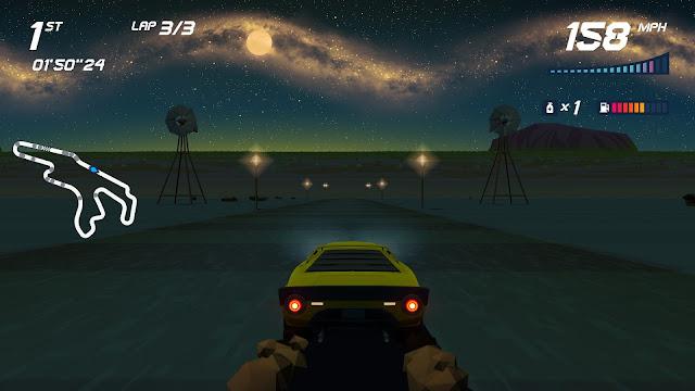 Screenshot of Uluru from Horizon Chase Turbo