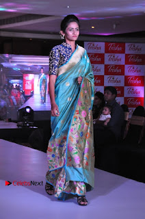South Indian Celebrities Pos at Love For Handloom Collection Fashion Show  0132.jpg