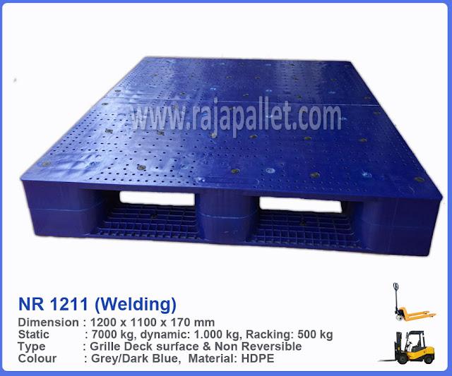 Pallet Plastik Heavy Duty NR 1211 (welding)