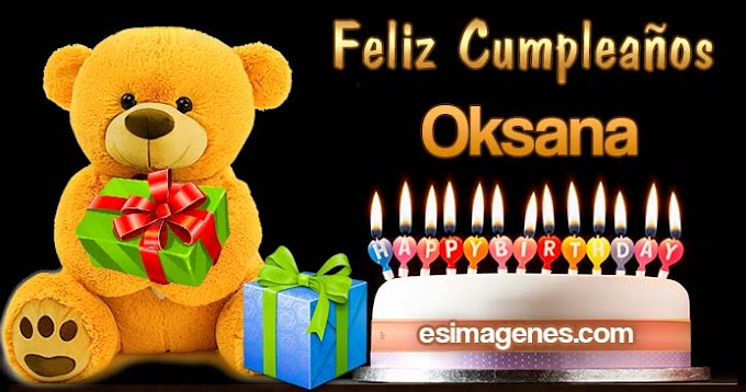 Feliz Cumpleaños Oksana