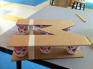 Procedimiento para elaborar un macetero con forma de letra para interiores