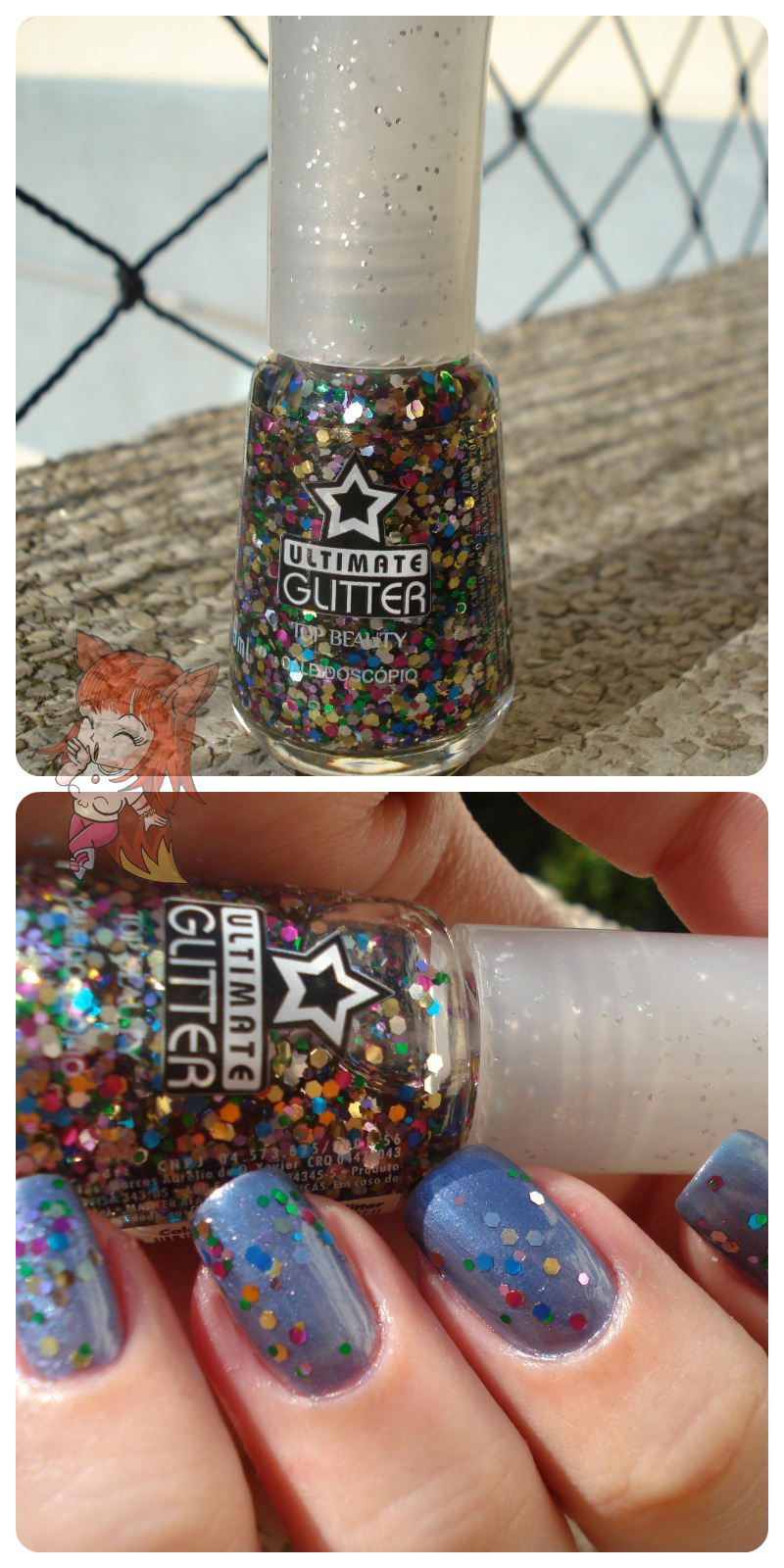 Esmalte Top Beauty :: Buquê de Flores + Glitter Caleidoscópio