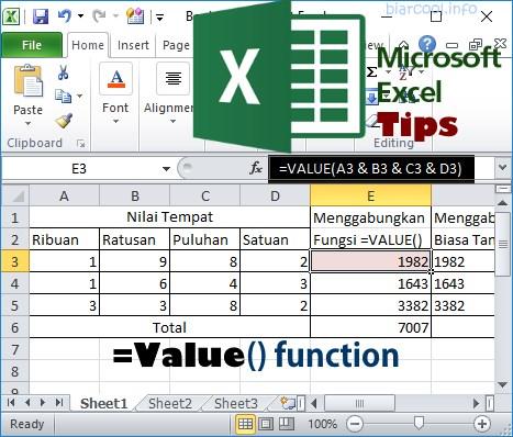 Tue 22-Jan-19 235250 Tips Cara menggunakan rumus fungsi ABS untuk pengurangan matematika di Microsoft Excel