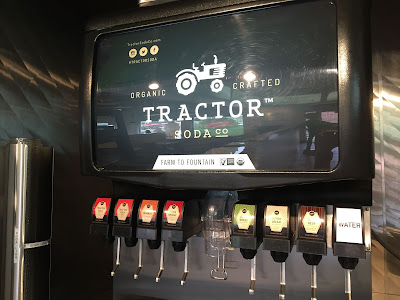 Tractor Soda Fountain at Nic's Organic Fast Food.