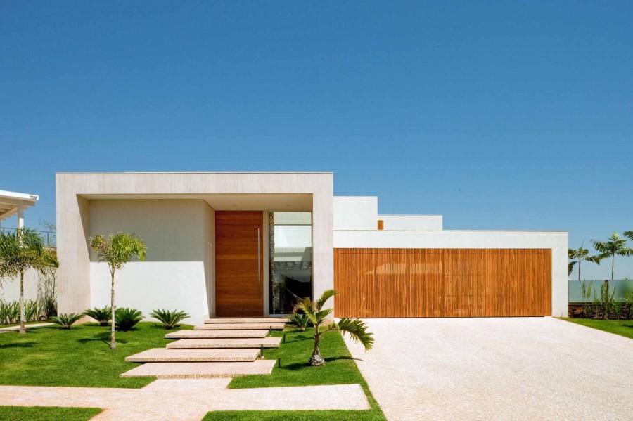 Construindo minha casa clean fachadas de casas quadradas for Fachadas de casas modernas 1 pavimento