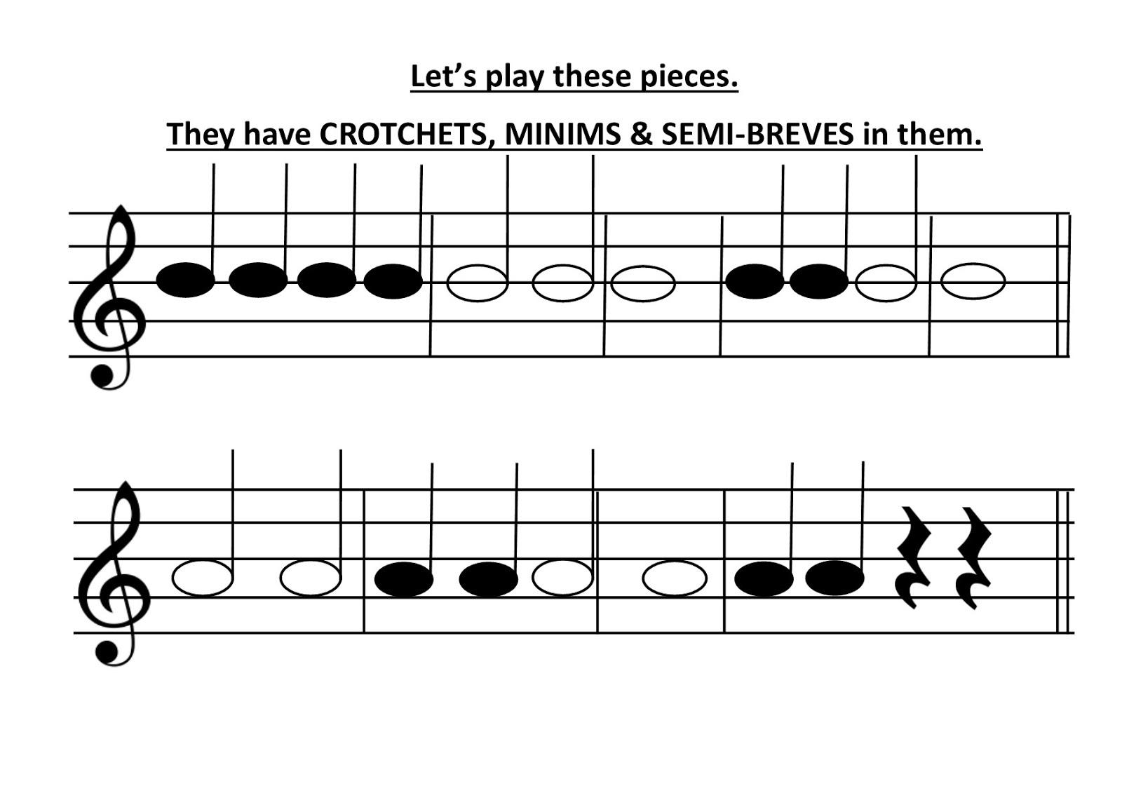 Year 3 - Lesson 3- Minims, semibreves and A   Music at Chadwell