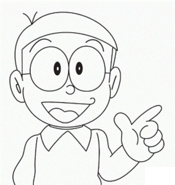 Tranh tô màu Nobita