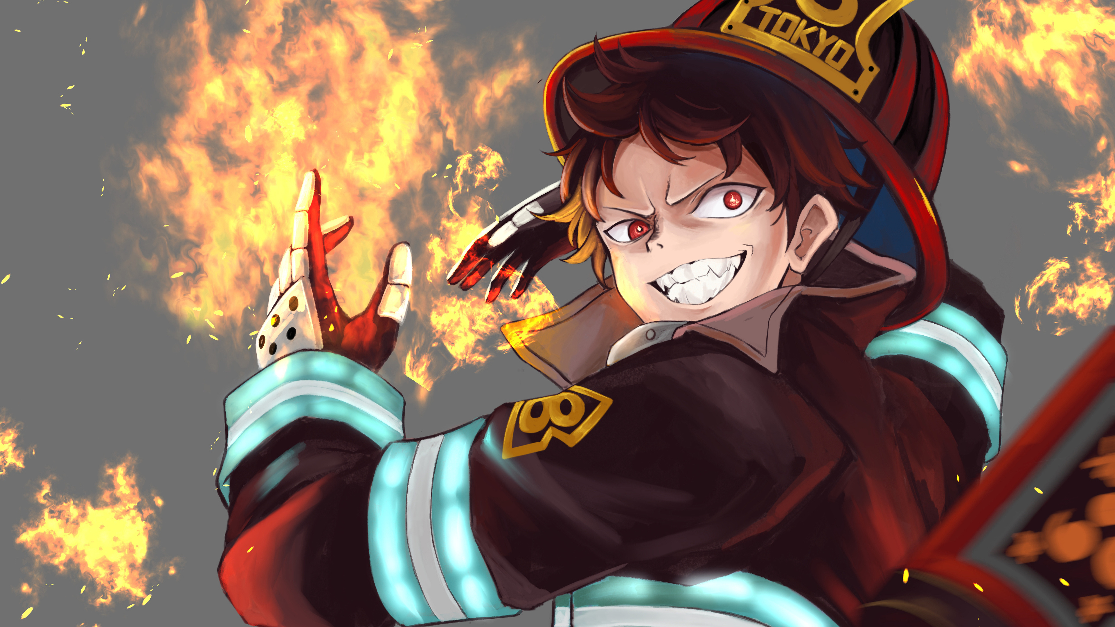 Fire Force Shinra Kusakabe Flame 4k Wallpaper 34 Published by june 12, 2020. fire force shinra kusakabe flame 4k
