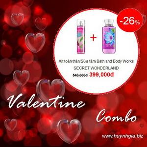Khuyến mãi Valentine day Bath and Body Works giá cực rẻ CB1 www.huynhgia.biz