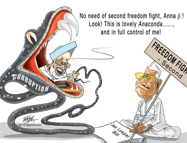 india against corruption: cartoons