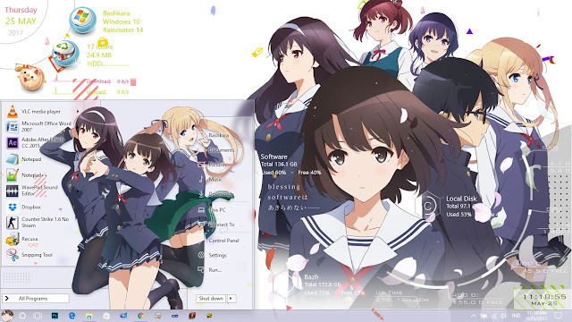 Theme Saenai Heroine no Sodatekata Flat for Windows 10 Version 1607