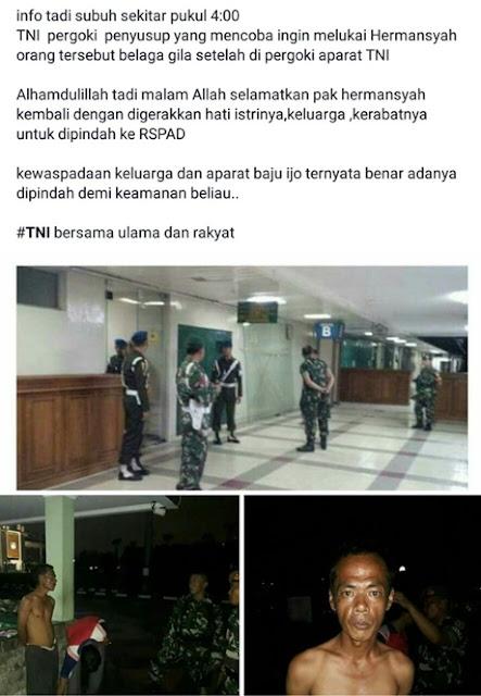 TNI Cek Isu Percobaan Penyerangan Ahli IT Hermansyah di RS, Polisi Kantongi Wajah Pembacok