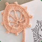 Figura floral a  crochet