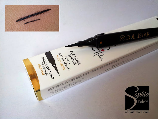 eye liner shock collistar colore nero - swatch