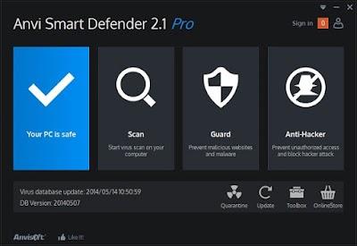 برنامج Anvi Smart Defender برنامج مجاني للكشف عن جميع انواع الفيروسات داخل الحاسوب وإزالتها