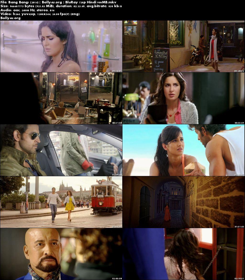Bang Bang 2014 BluRay 450MB Full Hindi Movie Download 480p