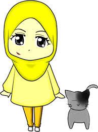 Gambar Muslimah & Kucing