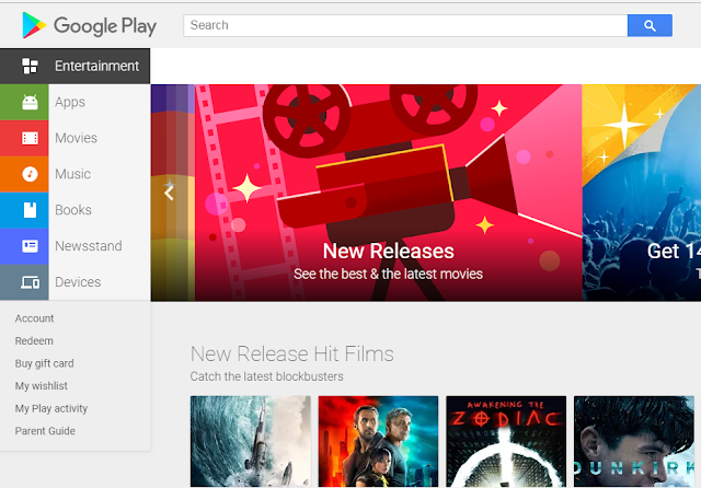 google play store home page
