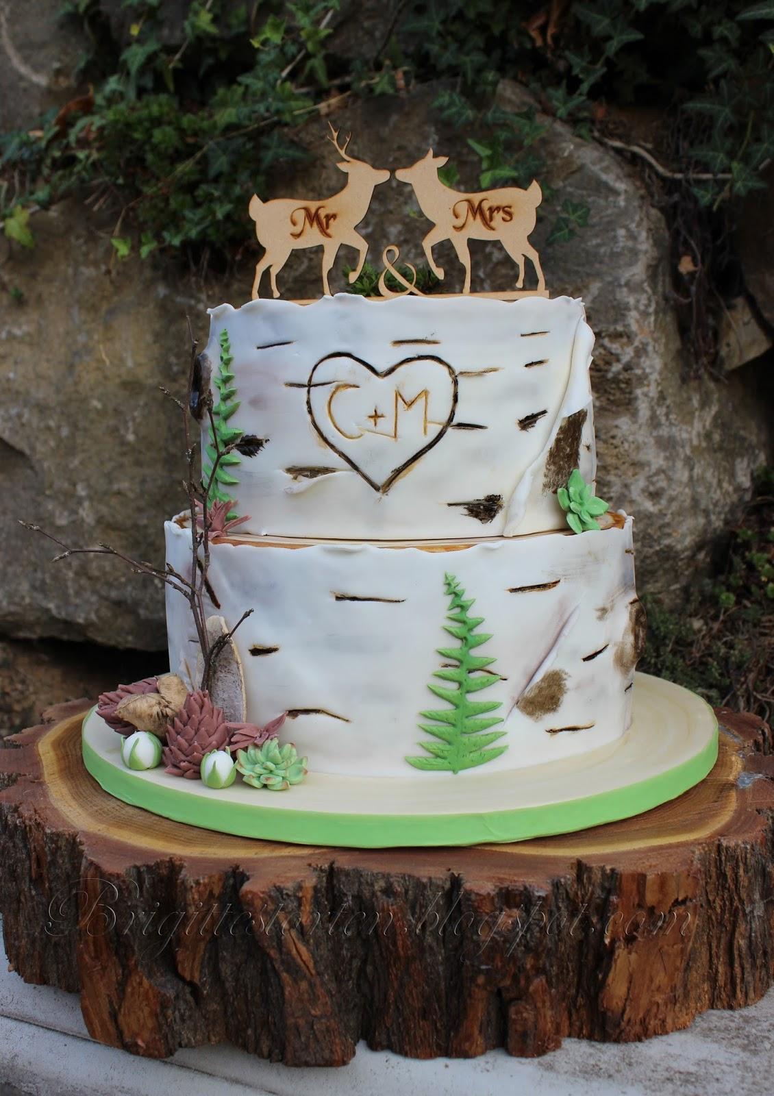 Birkenstamm Hochzeitstorte Weddingcake Birchtree Brigittes
