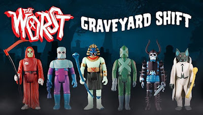 Designer Con 2016 Exclusive The Worst Graveyard Shift Retro Action Figure Set by Super7