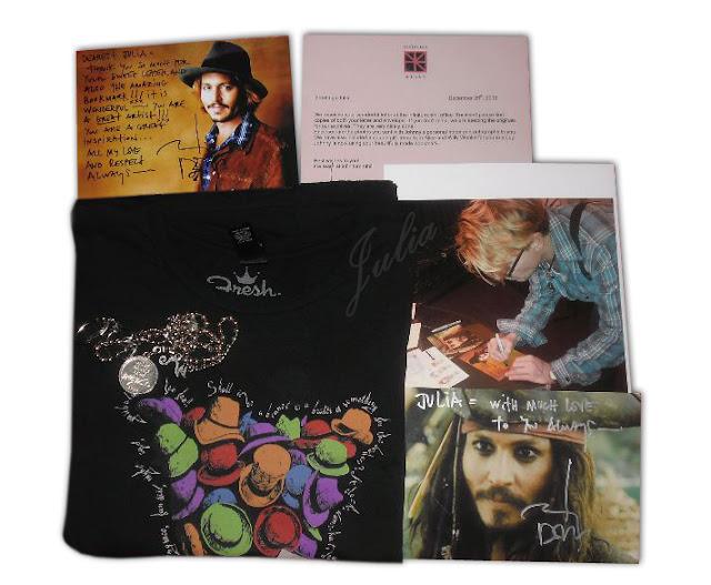 Johnny Depp autograf zdobyty korespondencyjnie list